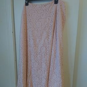 Dresses & Skirts - Cato light pink lacy maxi skirt sz 26/28W
